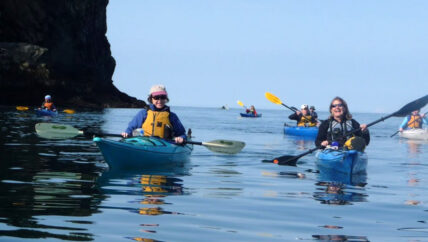 Sea Kayaking around Gull Island with St. Augustine's Kayak & Tours in Kachemak Bay Homer, Alaska