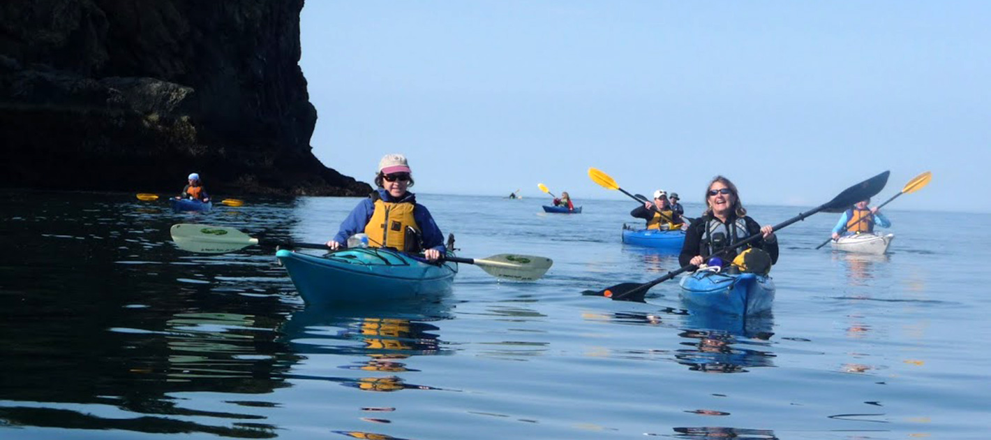 Sea Kayaking around Gull Island with St. Augustine's Kayak & Tours in Kachemak Bay Homer, Alaska