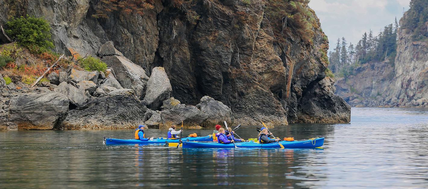 Sea Kayaking in Halibut Cove with St. Augustine's Kayak & Tours in Kachemak Bay Homer, Alaska